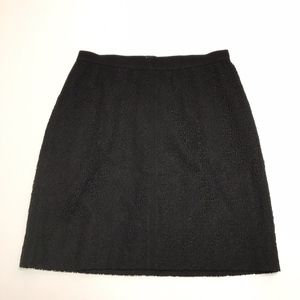 Ann Taylor Black Lace Knit Crochet Career Skirt 6